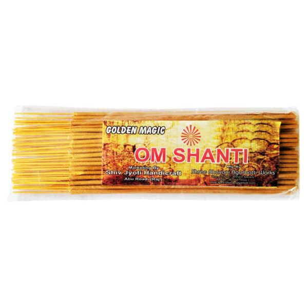 Golden Magic Om Shanti Agarbatti (Incense Sticks)