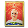Brahma Baba Decorative Golden Frame Art