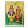 Lakshmi Narayan Decorative Golden Frame Art